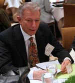 Werner Erhard at a conference in 2009